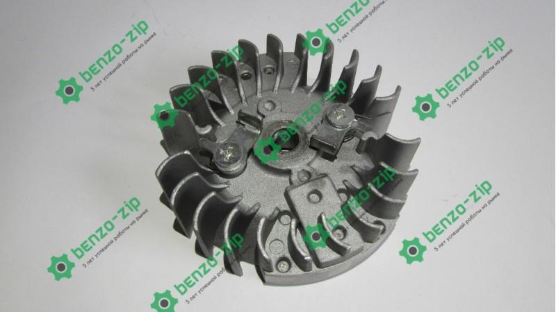 Маховик (магнето) для бензопилы Goodluck 4500 с железными собачками